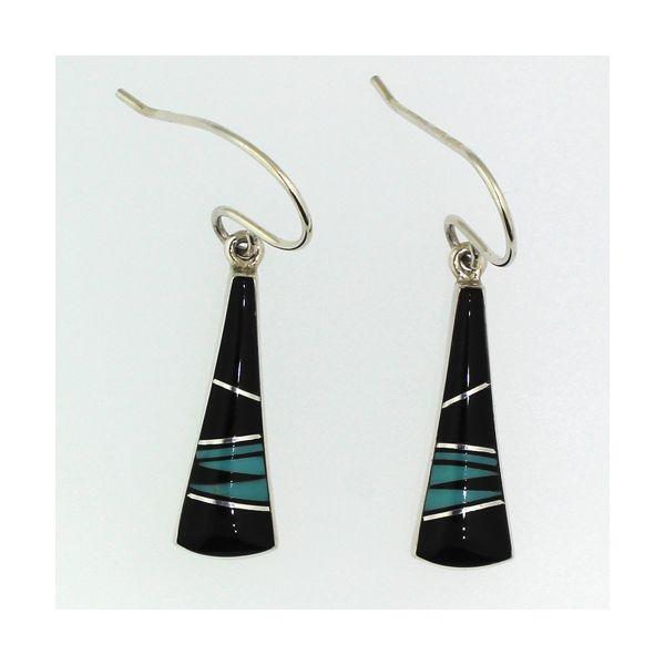 Black Onyx and Turquoise Earrings Darrah Cooper, Inc. Lake Placid, NY