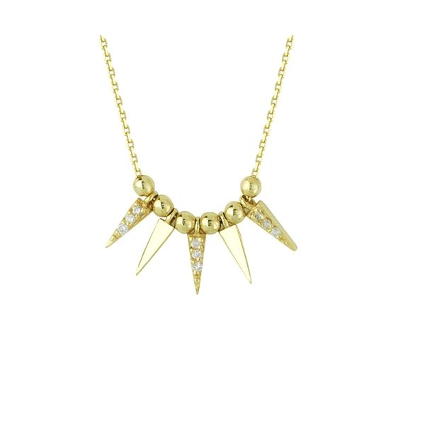 Gold and Diamond Dagger Necklace Darrah Cooper, Inc. Lake Placid, NY