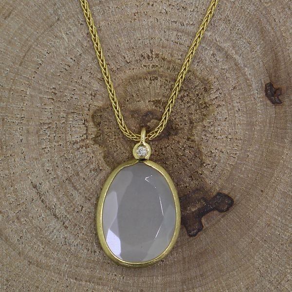 Mother of Pearl and Diamond Necklace Darrah Cooper, Inc. Lake Placid, NY