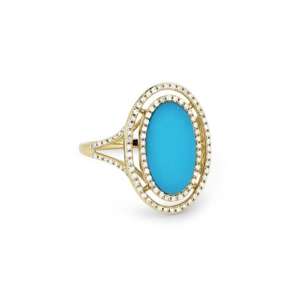 Turquoise and Diamond Ring Darrah Cooper, Inc. Lake Placid, NY