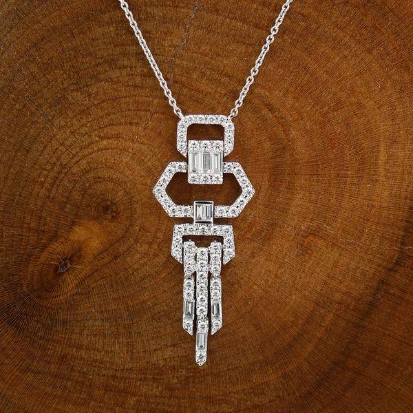 Diamond Art Deco Inspired Necklace Darrah Cooper, Inc. Lake Placid, NY