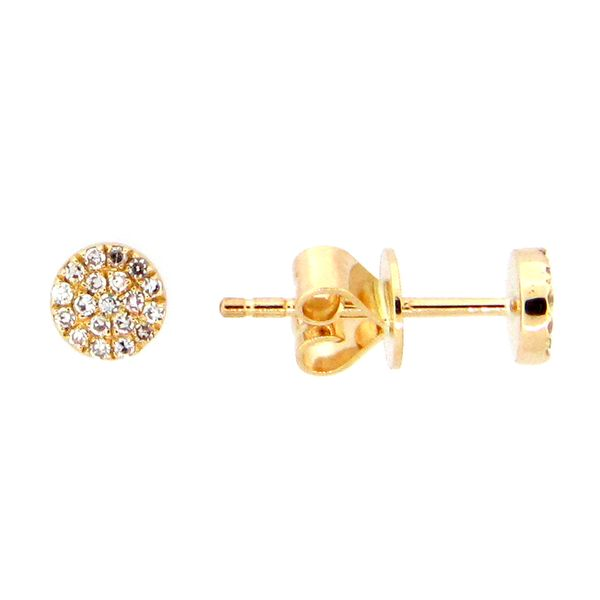 Pave Diamond Disc Earrings Darrah Cooper, Inc. Lake Placid, NY