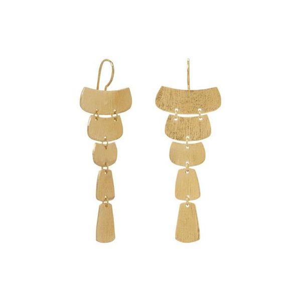 Gold Plated Cascading Earrings Darrah Cooper, Inc. Lake Placid, NY