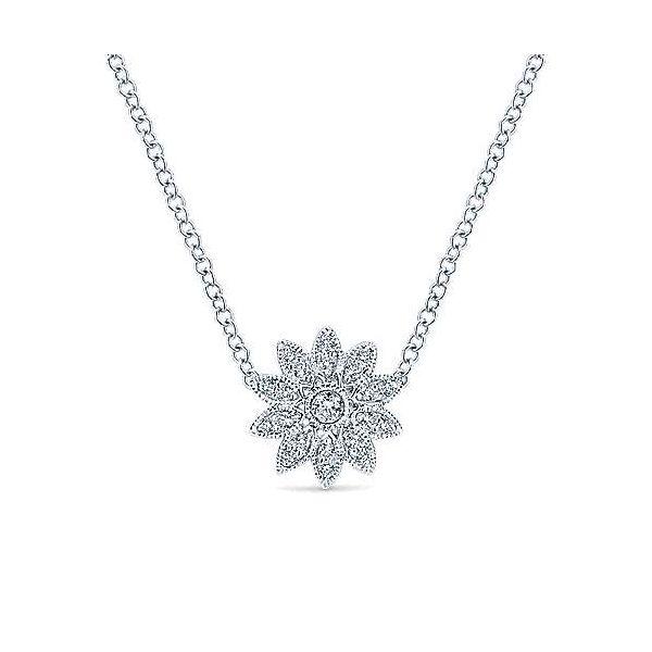 White Sapphire Flower Necklace Darrah Cooper, Inc. Lake Placid, NY