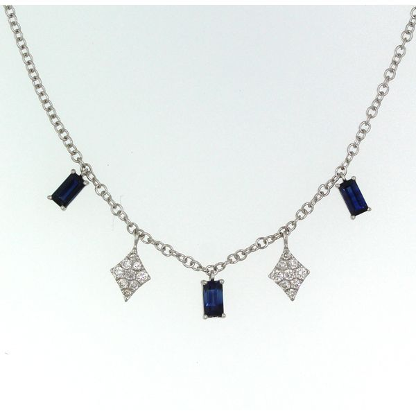 Sapphire and Diamond Drops Necklace Darrah Cooper, Inc. Lake Placid, NY
