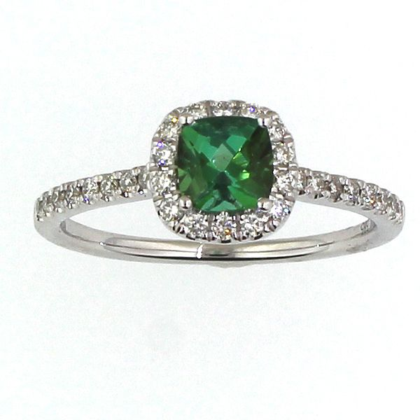Green Tourmaline and Diamond Ring Darrah Cooper, Inc. Lake Placid, NY
