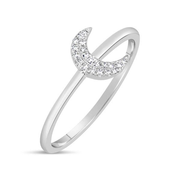 Diamond Crescent Moon Ring Darrah Cooper, Inc. Lake Placid, NY