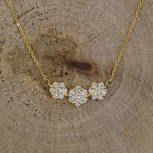 Petite Three Cluster Diamond Necklace Darrah Cooper, Inc. Lake Placid, NY