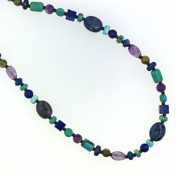 Lapis, Turquoise, and Amethyst Bead Necklace Darrah Cooper, Inc. Lake Placid, NY