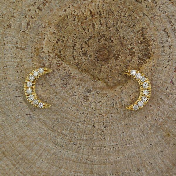 Diamond Crescent Moon Earrings Darrah Cooper, Inc. Lake Placid, NY