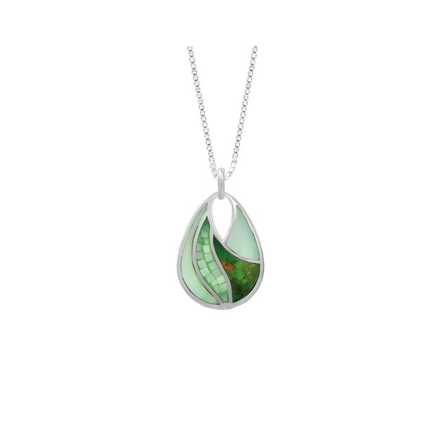 Green Mother of Pearl and Turquoise Necklace Darrah Cooper, Inc. Lake Placid, NY