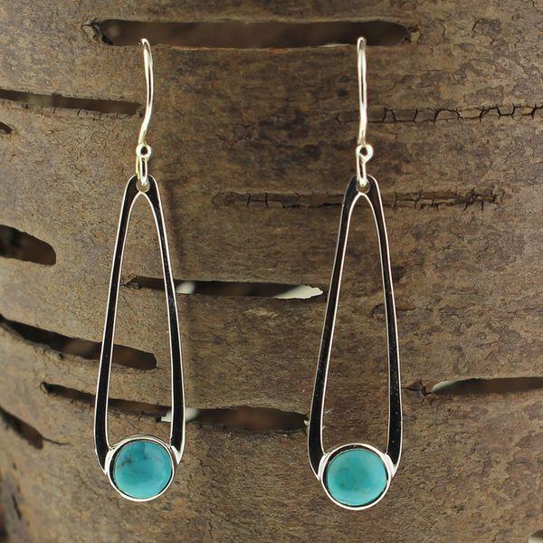 Turquoise Teardrop Earrings Darrah Cooper, Inc. Lake Placid, NY
