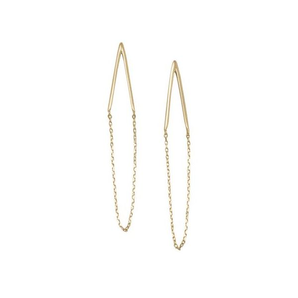 Gold Plated Chevron Chain Earrings Darrah Cooper, Inc. Lake Placid, NY