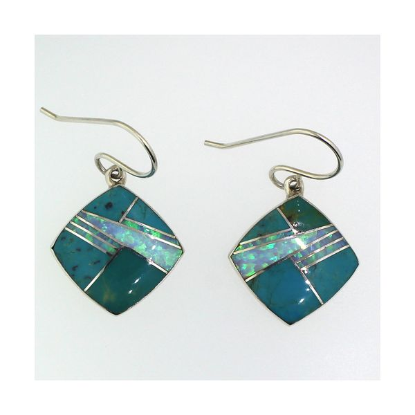 Turquoise and Synthetic Opal Earrings Darrah Cooper, Inc. Lake Placid, NY