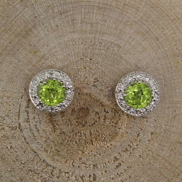 Peridot and Diamond Earrings Darrah Cooper, Inc. Lake Placid, NY