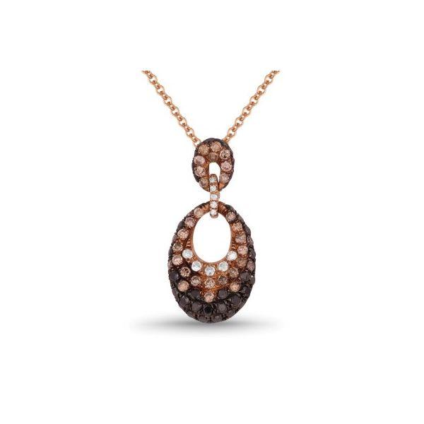 Black, Champagne, and White Diamond Necklace Darrah Cooper, Inc. Lake Placid, NY