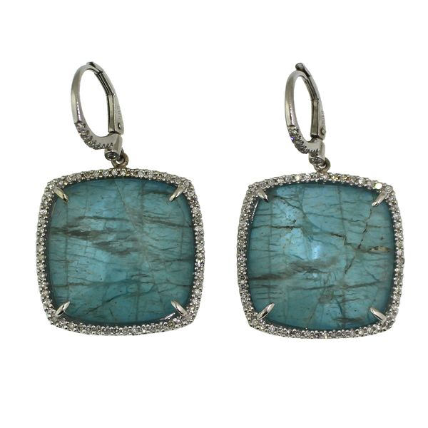 Apatite and Diamond Earrings Darrah Cooper, Inc. Lake Placid, NY