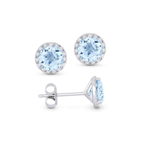 Aquamarine and Diamond Earrings Darrah Cooper, Inc. Lake Placid, NY
