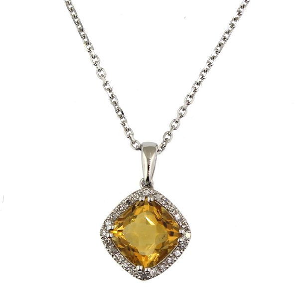 Citrine and Diamond Necklace Darrah Cooper, Inc. Lake Placid, NY