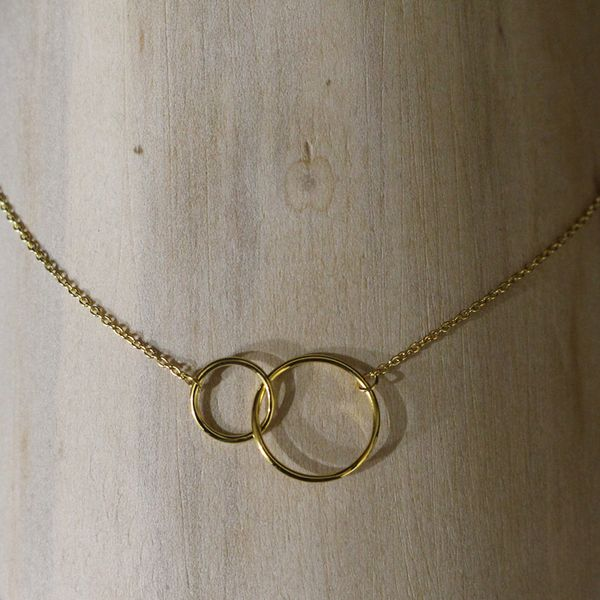 Gold Plated Intertwining Circles Necklace Darrah Cooper, Inc. Lake Placid, NY