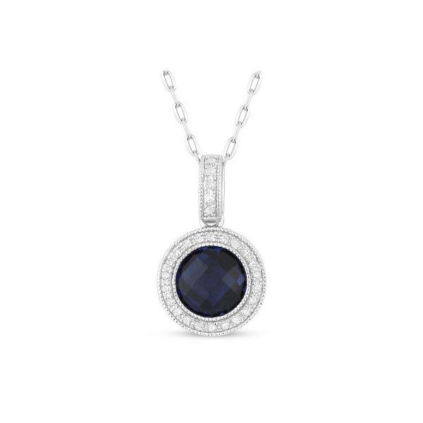 Created Sapphire and Diamond Necklace Darrah Cooper, Inc. Lake Placid, NY