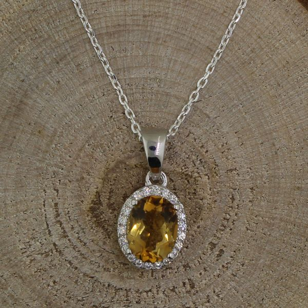 Citrine and Cubic Zirconia Necklace Darrah Cooper, Inc. Lake Placid, NY