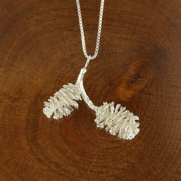 Double Pine Cone Necklace Darrah Cooper, Inc. Lake Placid, NY