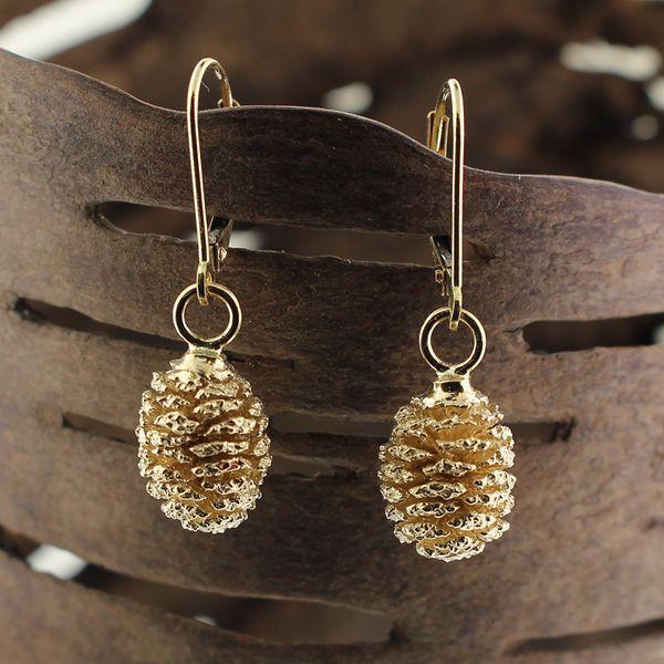 Gold Pine Cone Earrings Darrah Cooper, Inc. Lake Placid, NY