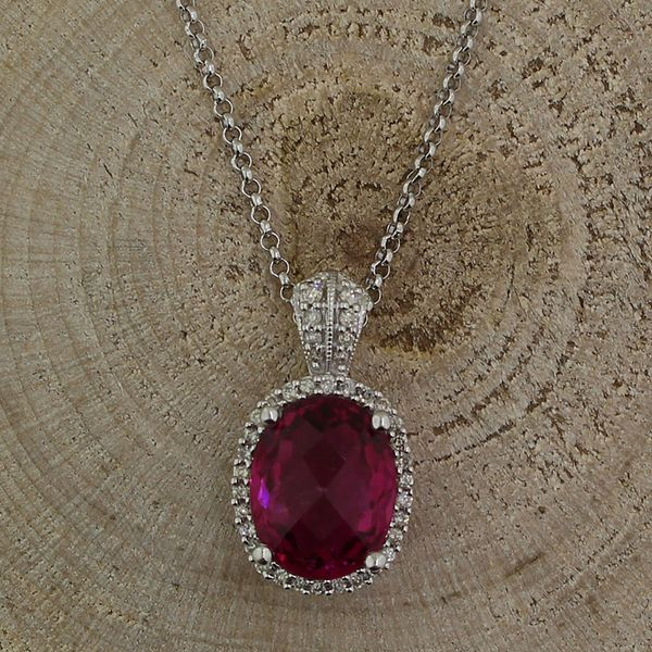 Pink Tourmaline and Diamond Necklace Darrah Cooper, Inc. Lake Placid, NY