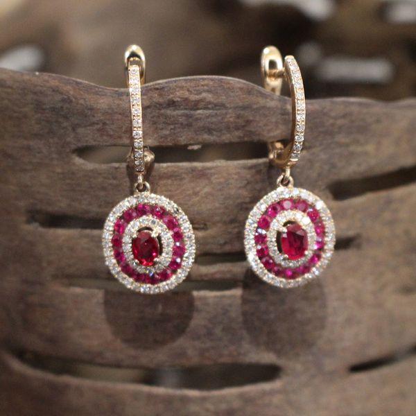 Ruby and Diamond Earrings Darrah Cooper, Inc. Lake Placid, NY