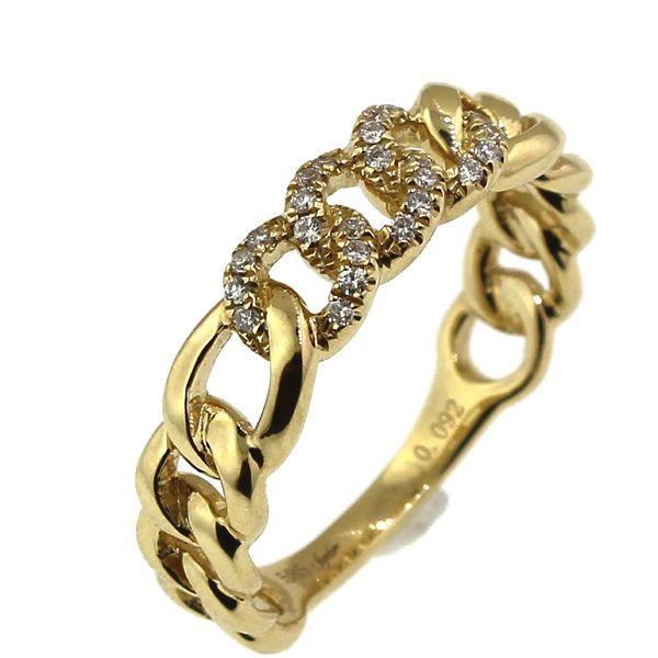 Diamond Curb Link Ring Image 2 Darrah Cooper, Inc. Lake Placid, NY