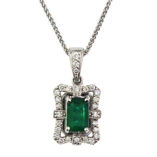 Emerald and Diamond Necklace Darrah Cooper, Inc. Lake Placid, NY
