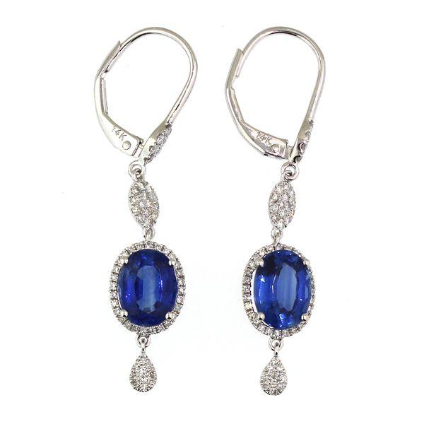 Kayanite and Diamond Drop Earrings Darrah Cooper, Inc. Lake Placid, NY
