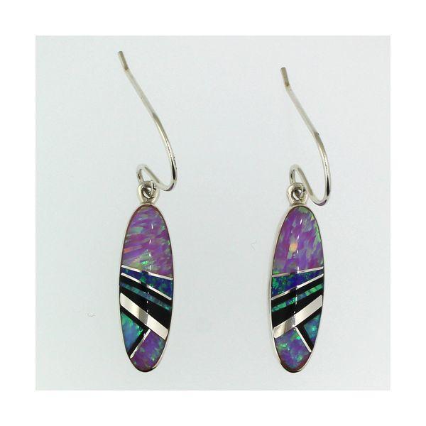 Onyx and Synthetic Opal Earrings Darrah Cooper, Inc. Lake Placid, NY