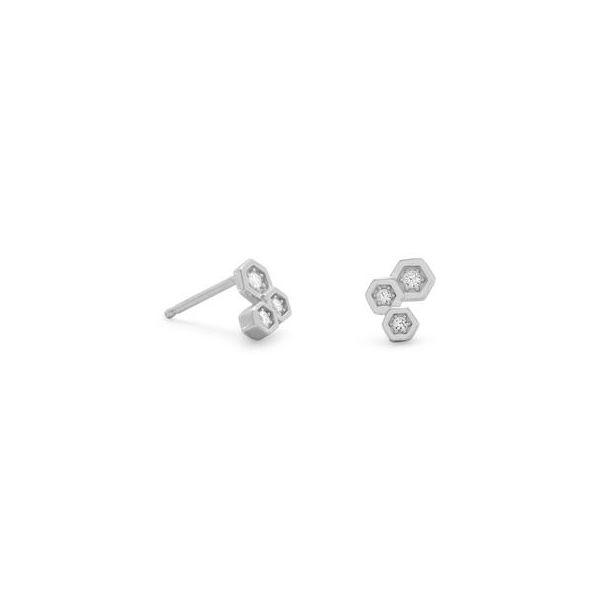 Cubic Zirconia Hexagon Earrings Darrah Cooper, Inc. Lake Placid, NY