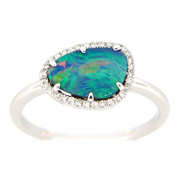 Boulder Opal and Diamond Ring Darrah Cooper, Inc. Lake Placid, NY