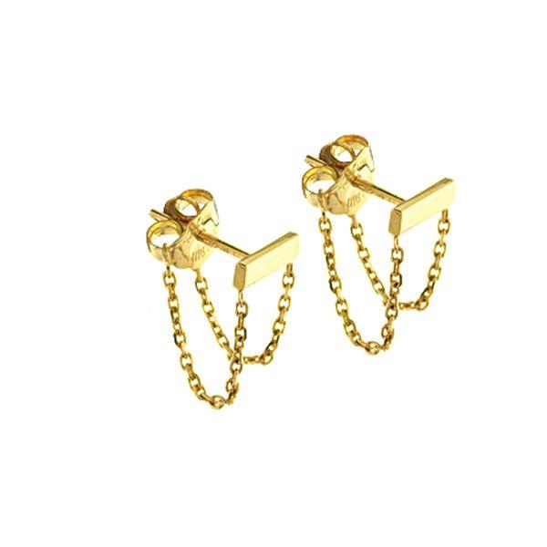 Bar and Chain Stud Earrings Darrah Cooper, Inc. Lake Placid, NY