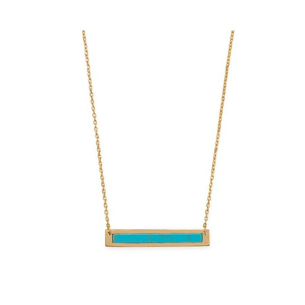 Gold Plated Turquoise Necklace Darrah Cooper, Inc. Lake Placid, NY