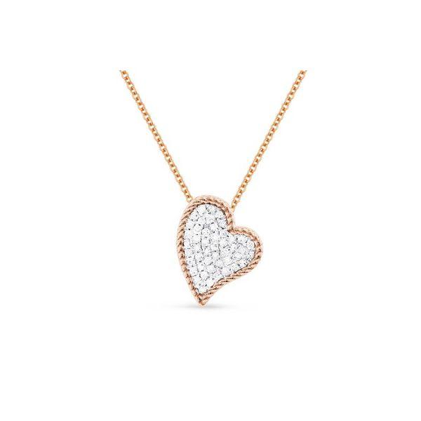 Pave Diamond Heart Necklace Darrah Cooper, Inc. Lake Placid, NY