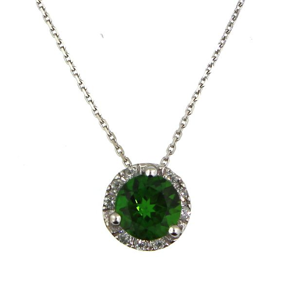 Chrome Diopside and Diamond Necklace Darrah Cooper, Inc. Lake Placid, NY