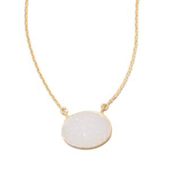Gold Plated Druzy Necklace Darrah Cooper, Inc. Lake Placid, NY