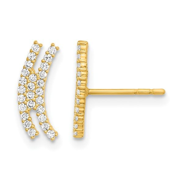 Gold Cubic Zirconia Earrings Darrah Cooper, Inc. Lake Placid, NY