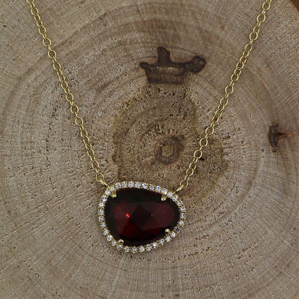 Garnet and Diamond Necklace Darrah Cooper, Inc. Lake Placid, NY
