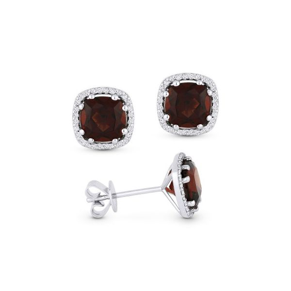 Garnet and Diamond Earrings. Darrah Cooper, Inc. Lake Placid, NY