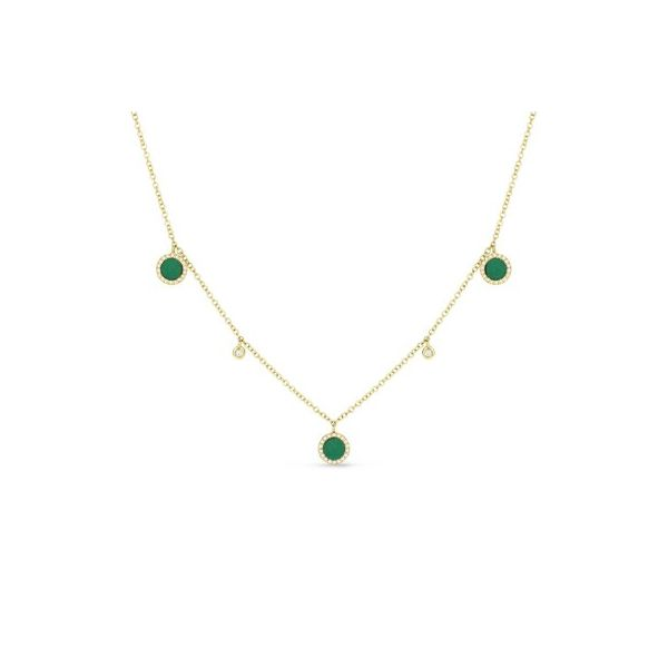 Malachite and Diamond Droplets Necklace Darrah Cooper, Inc. Lake Placid, NY