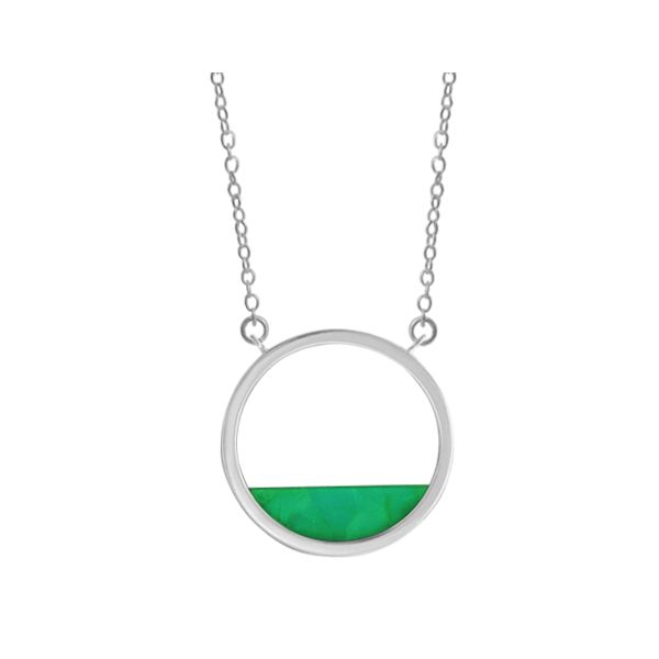 Green Turquoise Haff Moon Necklace Darrah Cooper, Inc. Lake Placid, NY