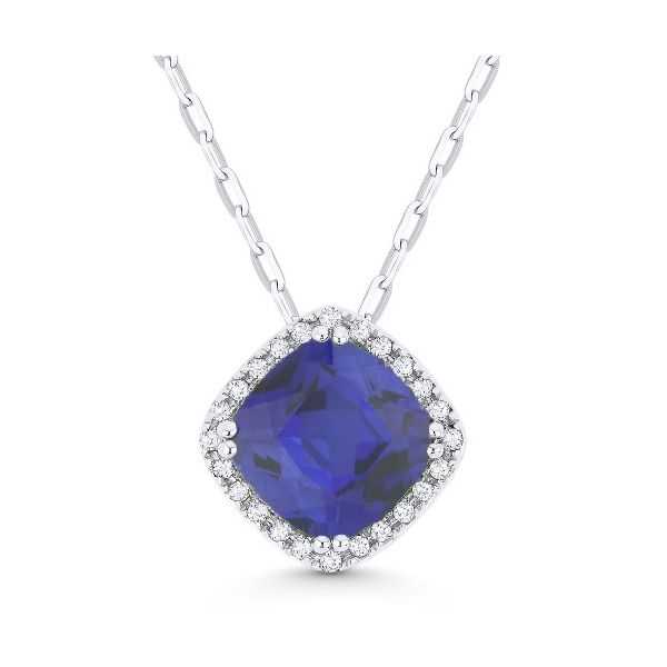 Diamond and Synthetic Sapphire Necklace Darrah Cooper, Inc. Lake Placid, NY