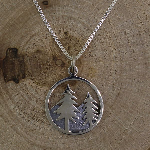 Mountain and Trees Necklace Darrah Cooper, Inc. Lake Placid, NY
