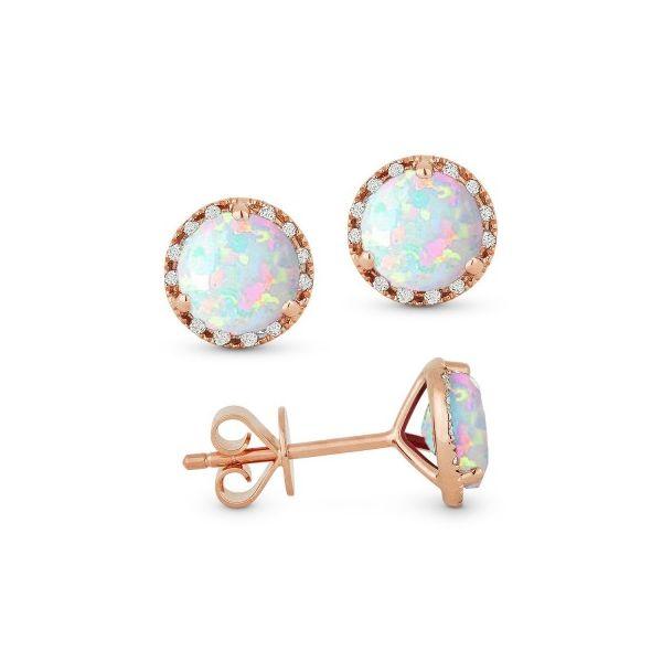 Opal and Diamond Earrings Darrah Cooper, Inc. Lake Placid, NY