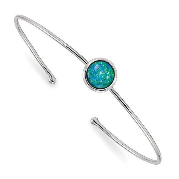 Synthetic Opal Thin Cuff Bracelet Darrah Cooper, Inc. Lake Placid, NY